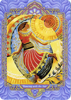 Triple Goddess Tarot - 19 : Dancing with the Sun